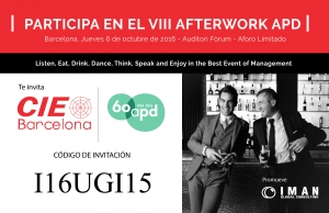 Asiste con CIE Barcelona al VIII After Work de APD